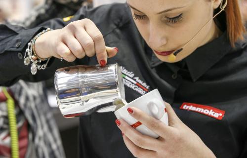 preparazione caffè espresso